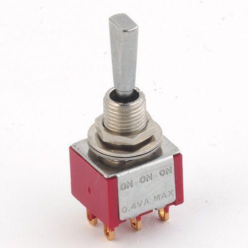 mini toggle-switch, flat toggle,chr solder lug, on-on-on,dpdt przełącznik gitarowy marki Mec