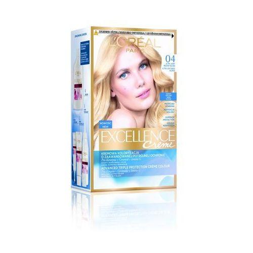L'Oreal Paris, Excellence Creme. Farba do włosów, 04 bardzo jasny beżowy blond, 192ml - L'Oreal Paris
