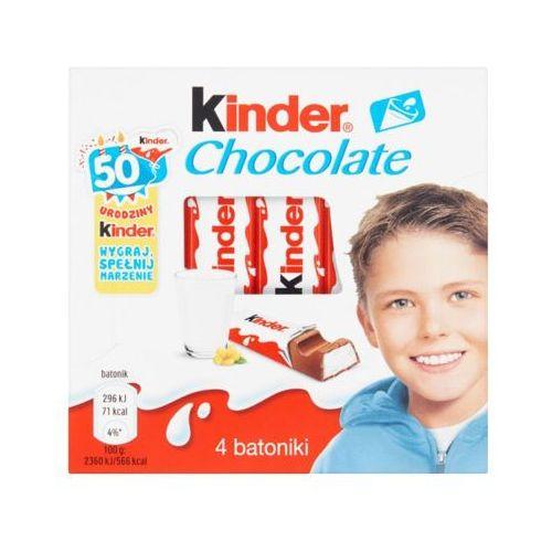 Kinder chocolate 50g batoniki z mlecznej czekolady z nadzieniem mlecznym (4 batoniki)