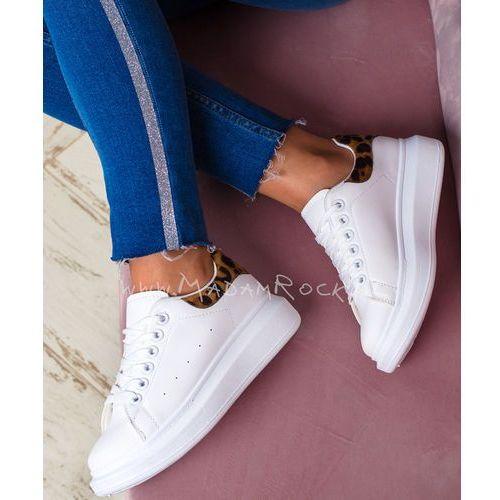 Buty sportowe Rock Upper III białe- panterka, kolor biały