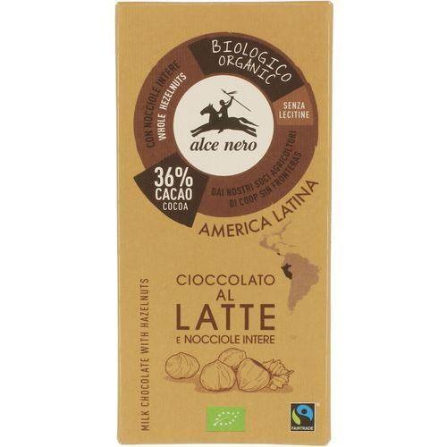 Alce nero : czekolada mleczna z orzechami bio - 100 g (8009004901117)