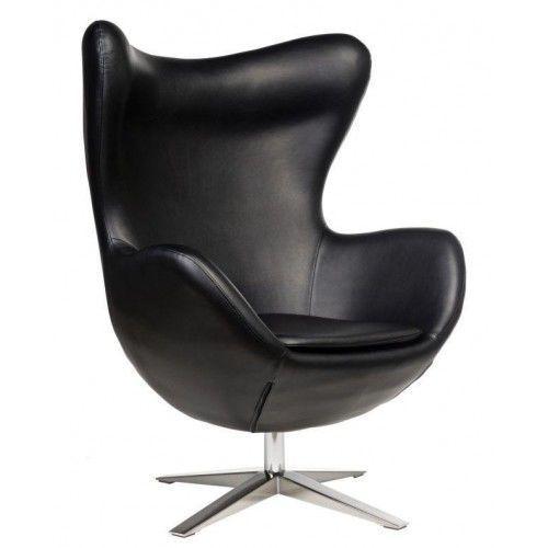 Fotel jajo soft skóra ekologiczna 527 czarny outlet marki D2.design