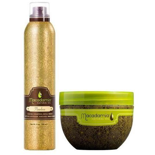 Macadamia zestaw regenerujący: odżywka myjąca flawless 250ml + deep repair masque 250ml (9753197531348)