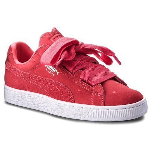 Sneakersy - suede heart valentine jr 365135 01 paradise pink/paradise pink marki Puma