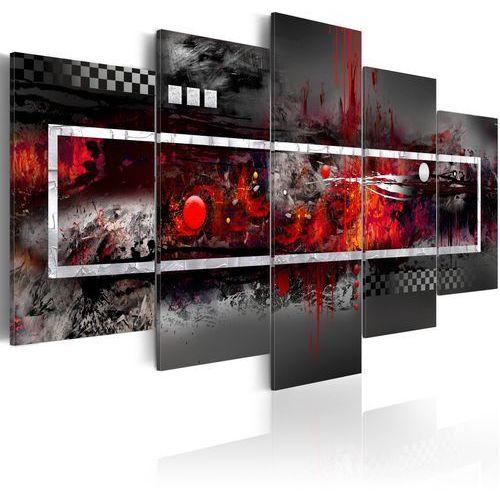 Obraz - Szara wizja z nutą czerwieni