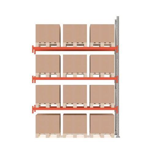 Regał paletowy ultimate, moduł dodatkowy, 4000x2750x1100 mm, 12 palet marki Aj produkty