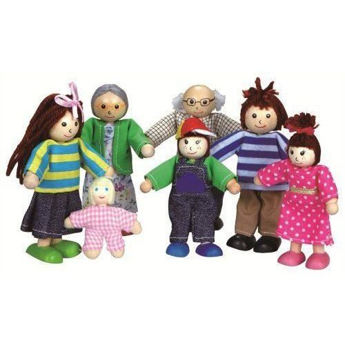 Lalki do domku dla lalek - rodzinka marki Lelin