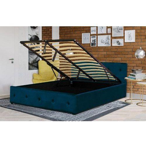 Łóżko tapicerowane do sypialni 160x200 sfg012a białe marki Meblemwm