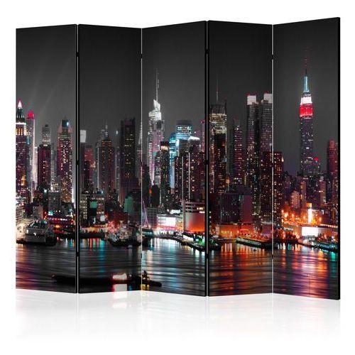 Parawan 5-częściowy - Bezsenność w Nowym Jorku II [Room Dividers] bogata chata, A0-PARAVENT1117