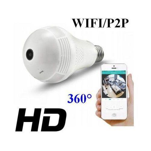 Mini-Kamera WIFI/P2P HD, Ukryta w Żarówce (zasięg cały świat!!) + Dźwięk + Zapis + Zoom..., 590794391252