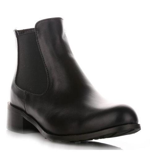 f047208b59292 Klasyczne skórzane botki damskie czarne, Alexio giorgio, 38-40 520,00 zł To  konwencjonalne botki skórzane - wyznacznik stylu i elegancji.