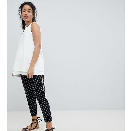 Asos design maternity tapered peg with contrast bind in mono aztec print - black marki Asos maternity