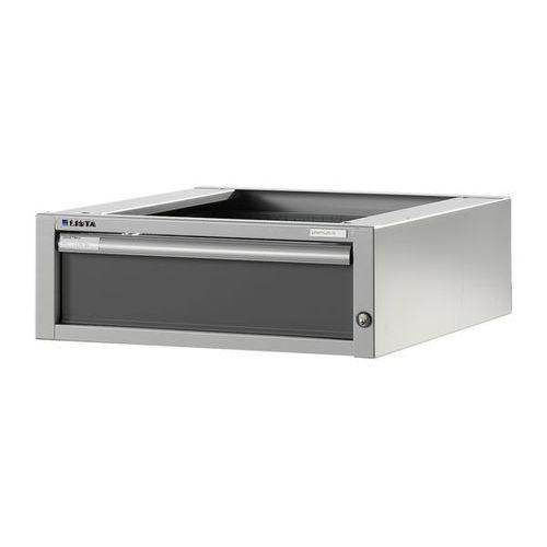 Stół warsztatowy w systemie modułowym, szafka dolna,wys. 204 mm, 1 szuflada marki Lista