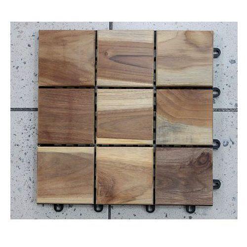 Deski tarasowe modułowe płytki 30x30cm teak olejowany klepka kwadrat (deska tarasowa)