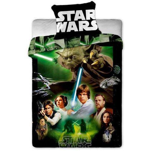 Dziecięca bawełniana pościel Star Wars Green, 140 x 200 cm, 70 x 90 cm, Jerry Fabrics