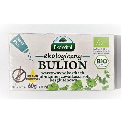 Bulion warzywny w kostkach o obniżonej zawartości soli bez oleju palmowego BEZGL. BIO 60 g EKO WITAL (5908249973329)
