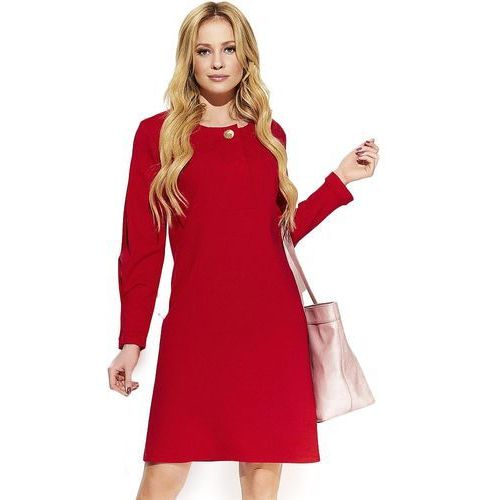 Makadamia sukienka damska 38 czerwona