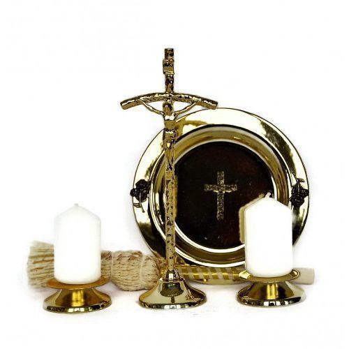 Produkt polski Komplet kolędowy metalowy, kolor złoty