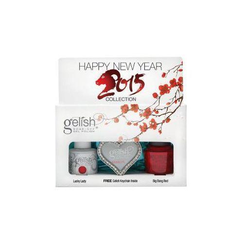 Gelish zestaw happy new year 2015 + folia + brelok