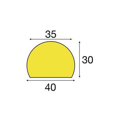 Profil ostrzegawczy i ochronny knuffi®,długo świecący / czarny, fragment o dł. 1 m marki Shg pur-profile