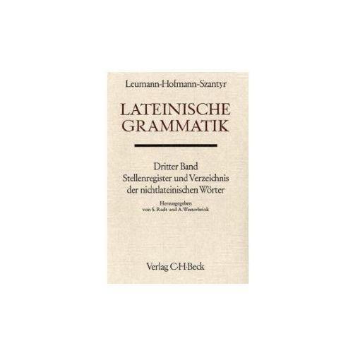 Lateinische Grammatik. Tl.3