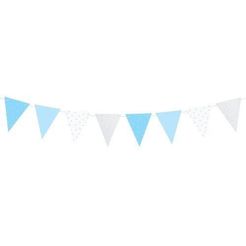 Baner flagi niebieski na roczek 1st birthday - 1,3 m marki Party deco