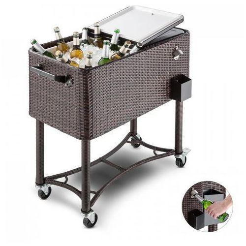 Blumfeldt Springbreak wózek chłodniczy do napojów wózek 80l technorattan