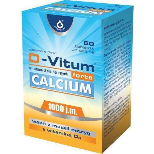 Tabletki D-Vitum Forte Calcium x 60 tabletek do ssania