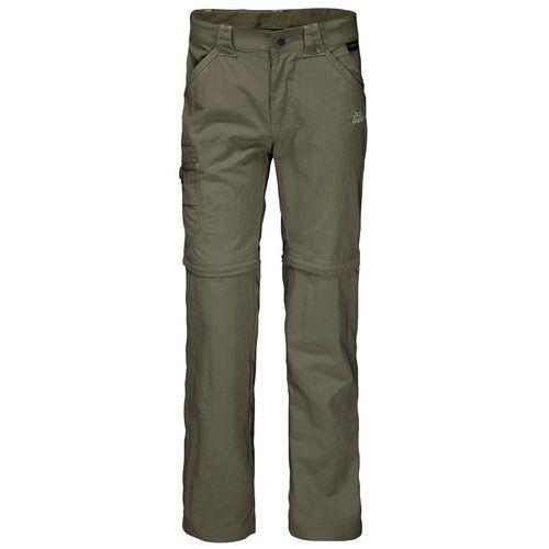 Spodnie SAFARI ZIP OFF PANTS K woodland green - 104 (4055001781164)
