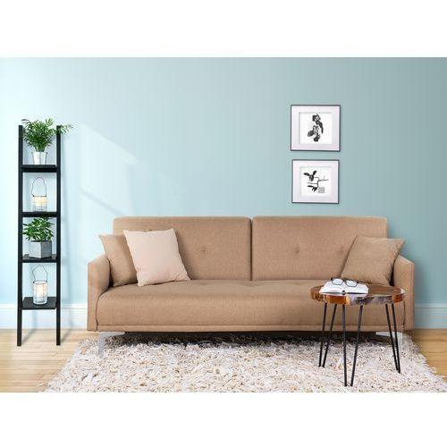Sofa z funkcją spania beżowa - kanapa rozkładana - wersalka - lucan marki Beliani