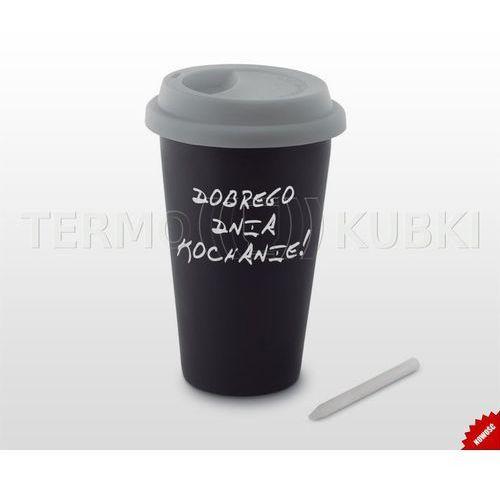 Kubek termiczny ceramiczny 350 ml arti (czarny/szary) marki Termio