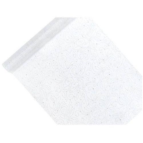 Ap Organza z nadrukiem biała 0,48x9m 1 szt.