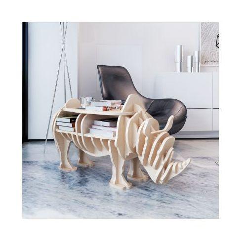 Drewniana półka na książki, stolik, nietypowy kształt, nosorożec - sprawdź w VidaXL