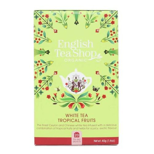 Biała herbata tropical fruits 20x2 g bio 40 g p marki English tea sho