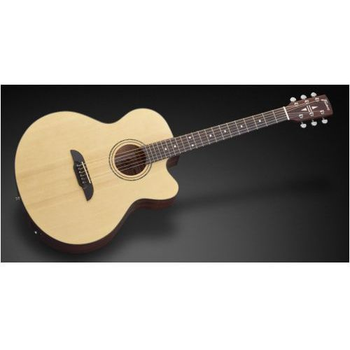 fj 14 sv - vintage transparent satin natural tinted + eq gitara elektroakustyczna marki Framus