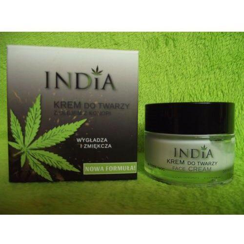 India cosmetics- krem do twarzy dla cery dojrzałej na dzień i na noc z olejem konopnym50ml