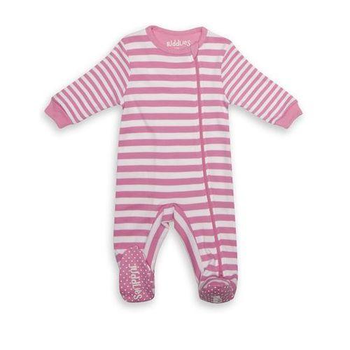 pajacyk sachet pink stripe 6-12m marki Juddlies
