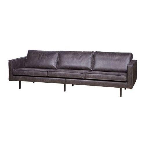 Be Pure Sofa RODEO czarna 3-osobowa 378618-Z, kolor czarny