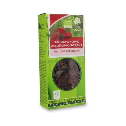 DARY NATURY 100g Herbata truskawkowo - malinowo - różana Liściasta BIO