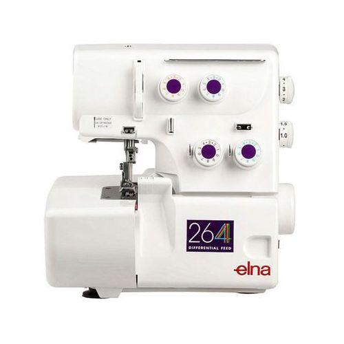 2,3 - nitkowy Overlock Elna 264D + regulowany docisk stopki + mereżka + 5 lat gwarancji
