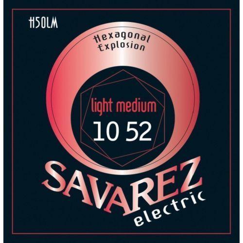 med-light (676547) struny do gitary elektrycznej hexagonal explosion nickel med-light.010-.052 marki Savarez