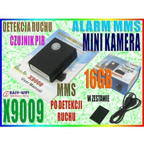 X9009 KAMERA ALARM MMS DETEKCJA RUCHU PIR PODSŁUCH CALLBACK + 16GB (kamera monitoringowa)