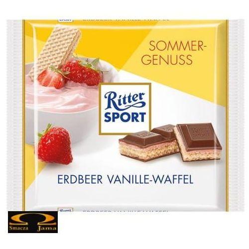 Czekolada Ritter Sport Erdbeer Vanille-Waffel 100g, 0518-980C8