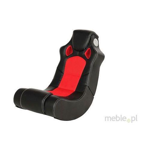 Actona Speedy Fotel Z Głośnikami Czarno Czerwony Skóra Ekologiczna - 0000043447 (fotel)