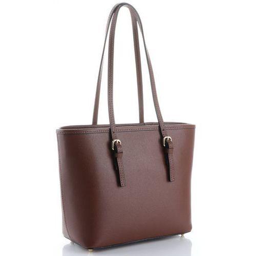 578cb2b714dc2 Genuine leather Klasyczne torebki skórzane na każdą okazję firmy długie  rączki brązowe (kolory) 255