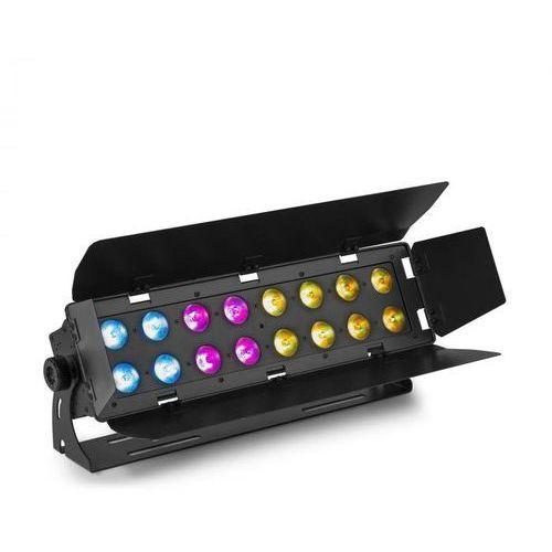 Beamz WH192, efekt świetlny wall wash, 100 W, 16 x 12 W 6 v 1 LED diody, RGBWA-UV, pilot zdalnego sterowania IR, czarny (8715693303766)