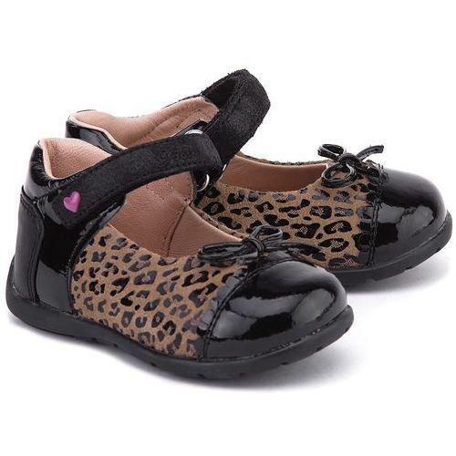 GEOX Baby Kaytan - Czarne Lakierowane Baleriny Dziecięce - B5451B 022HH C6175 od MIVO Shoes Shop On-line