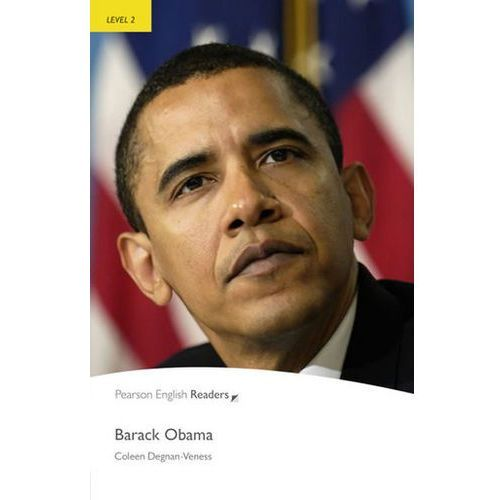Barack Obama Book Penguin Readers, Plus Audio CD, Level 2 Elementary, oprawa miękka