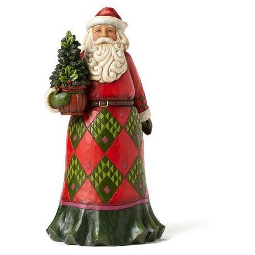 Mikołaj wiecznie zielony ostrokrzew Santa with Evergreen 4053706 Jim Shore figurka ozdoba świąteczna