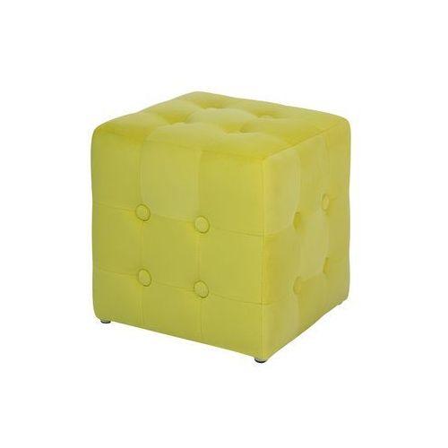 Pufa żółta - hoker - taboret - puf - podnóżek - siedzisko - wisconsin marki Beliani